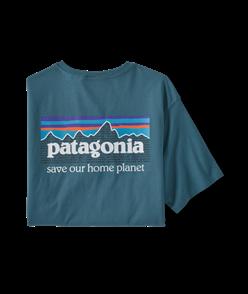 Patagonia P-6 Mission Organic T-Shirt, Abalone Blue
