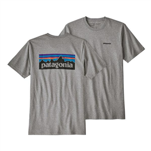 Patagonia P-6 Logo Responsibili Short Sleeve Tee, Gravel Heather