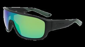 Dragon Vessel X LL Porlarized H20 Sunglasses, Matte Black/ lL Green Ion