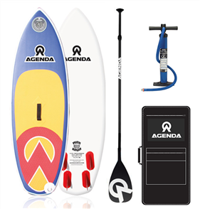 Agenda The Grom Kids iSup 6'0 Combo with Youth Adj F/G Paddle and 10ft Leash