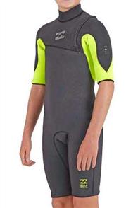 Billabong Pro 2/2mm Zip Lock Short Sleeve Spring Suit, Healther