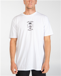 The Mad Hueys PALM FKR TEE, WHITE
