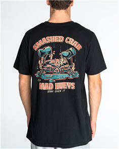 The Mad Hueys SMASHED CRAB TEE, BLACK