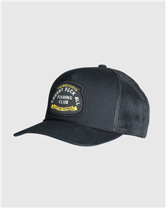 The Mad Hueys FK ALL CLUB TWILL TRUCKER, BLACK