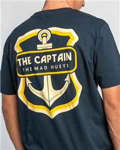 The Mad Hueys THE RETRO CAPTAIN TEE, NAVY