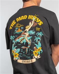 The Mad Hueys PARADISE ALE TEE, BLACK