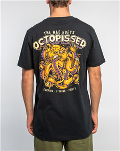The Mad Hueys OCTOPISSED TEE, BLACK