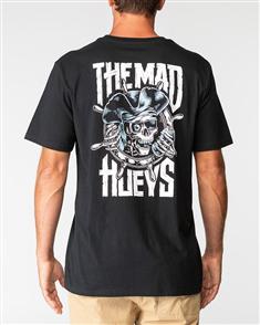 The Mad Hueys LOW TIDE TEE, BLACK