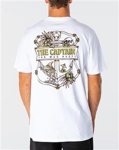 The Mad Hueys TROPIC CAPTAIN TEE, WHITE