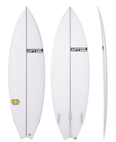 Pyzel Happy Twin Funformance Surfboard with FCS II Twin Fins