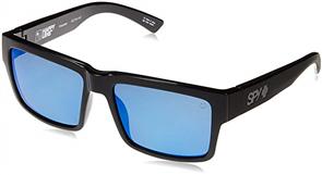 SPY Montana Sunglasses, Shiny Blk, Happy Gry Grn Polar w/ Dark Blu Spectra