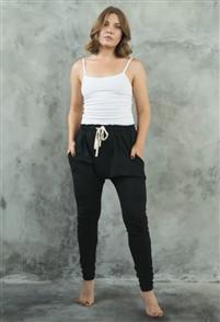 Evolution Basics Harem Pants, Black