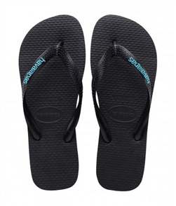 Havaianas Logo Filete, Black/Light Blue
