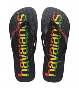 Havaianas Top Logo Mania, 7652 Black/ Red