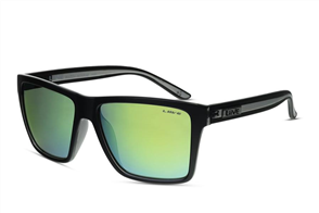 Liive BAZZA - MIRROR SUNGLASSES, Matt Black/ XTAL Blk