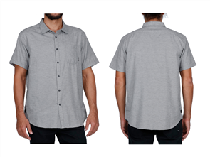 Billabong All Day Helix SS Shirt, Light Grey