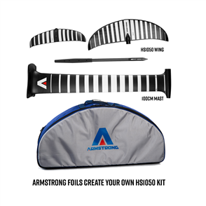 Armstrong Foils HS1050 Wing + 100cm Mast Foil Kit, Create your custom combo