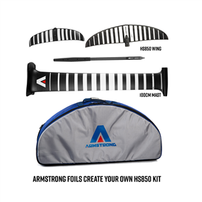 Armstrong Foils HS850 Wing + 100cm Mast Foil Kit, Create your custom combo