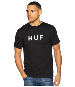 HUF Essentials Og Logo Short Sleeve Tee, Black