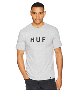 HUF Essentials Og Logo Short Sleeve Tee, Grey Heather