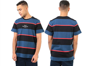 HUF MAZON STRIPE Short Sleeve Knit Tee, INSIGNIA BLUE