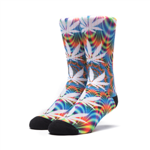 HUF Mens Plantlife All The Lights Socks, 1 Pack, Blue