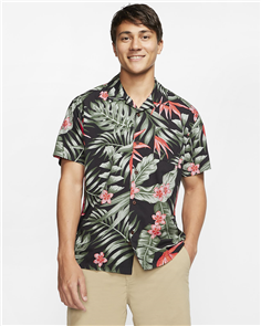 Hurley PARTY WAVE  SHORT SLEEVE SHIRT, BLACK
