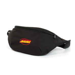 Santa Cruz Flame Strip Waist Bag, Black