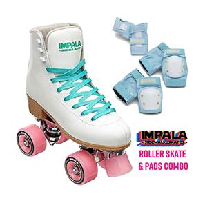 Impala Skates & Pads Combo, White