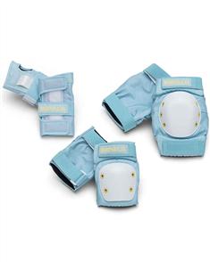 Impala Protective Safety Pad Set Adult, Sky Blue/Yellow
