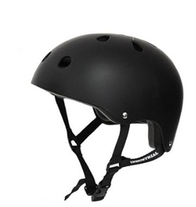 Industrial Skateboard Helmet, Black Medium