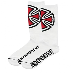 Independent Mens OG Cross Socks 4Pair, White