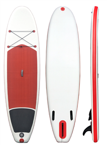 "Blank Inflatable Sup - 10'2 X 33"" X 6"", White Red Black"