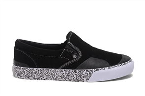 Element Spike Slip Shoe, Keith Haring Black White
