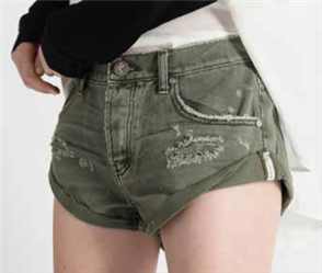 One Teaspoon Bandits Denim Short, Super Khaki