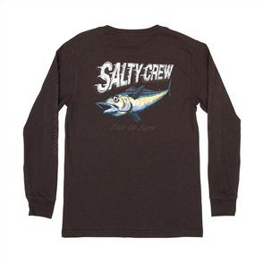 Salty Crew Screamin Longsleeve Boys Tee, Black
