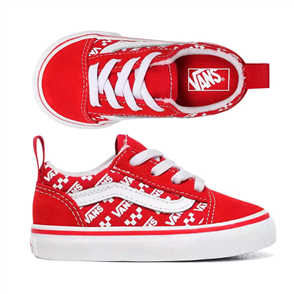 Vans TODDLER OLD SKOOL ELASTIC LACE SHOE, RACING RED