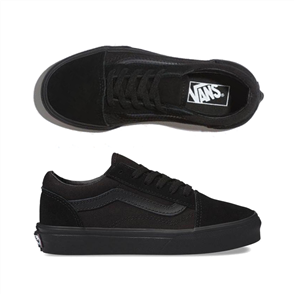 Vans Old Skool Youth Shoe, Black/ Black