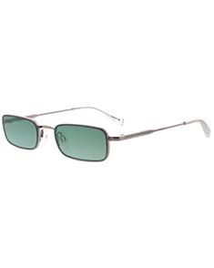 KENDALL + KYLIE LANCER Sunglasses, Shiny Ligh Gunmetal and Green