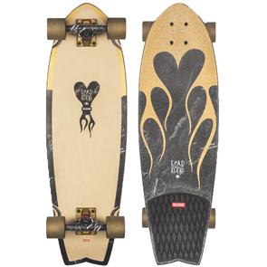 Globe Sun City Skate Longboard Cruiser, Dead Kooks Gold/Marble