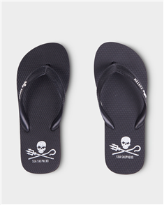 Kustom BOYS SEA SHEPHERD JANDALS, BLACK