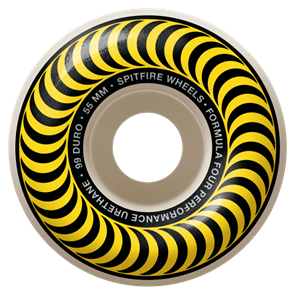 Spitfire F4 99 CLASSIC WHEELS, YELLOW, 55MM