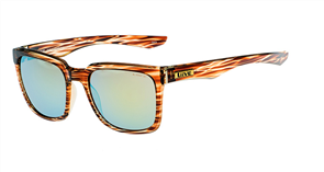 Liive Big Smoke - Revo Sunglasses, Brown Stripe