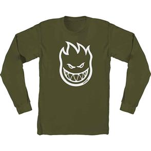 Spitfire BIGHEAD LONG SLEEVE T-Shirt, Military Green