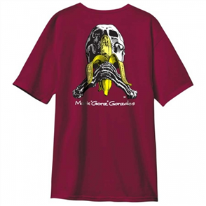 Heritage Blind Skull And Banana S/S Tee, Vintage Burgundy