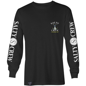 Salty Crew Chasing Tail Long Sleeve Tee, Black