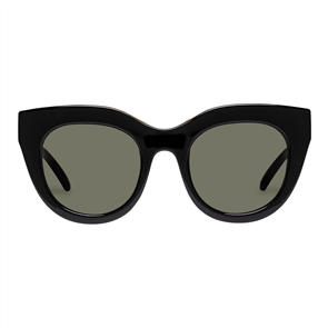 LE SPECS AIR HEART SUNGLASSES, BLACK/ GOLD