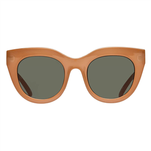 LE SPECS AIR HEART SUNGLASSES, CARAMEL