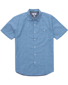 Vissla Happens Mens Shirt, Blue Fog