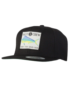 Salty Crew Mahi Patched Hat, Black